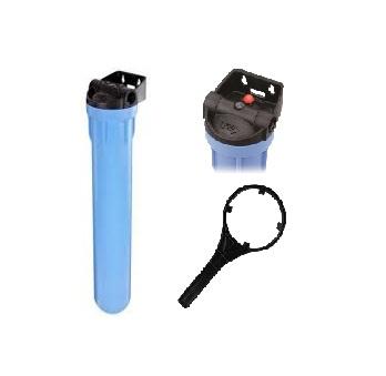 _ Carcaça Pentek, 3G Standard, Altura 20´, Conexão 3/4´ Azul/Preta. - F500/Comp/Sa