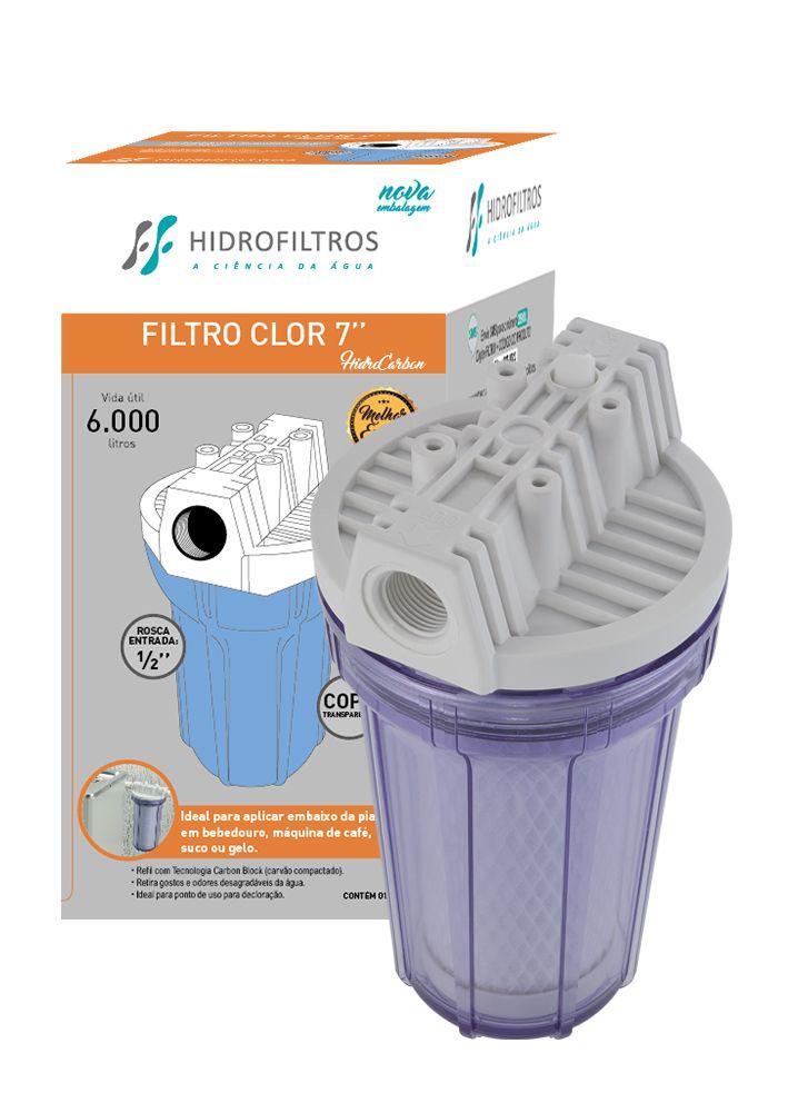 Filtro Pou 7 Transparente Carbon Block - 907-0023