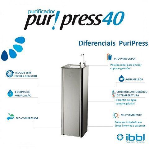 Purificador Pressão PURIPRESS 40 Conjugado - 6503