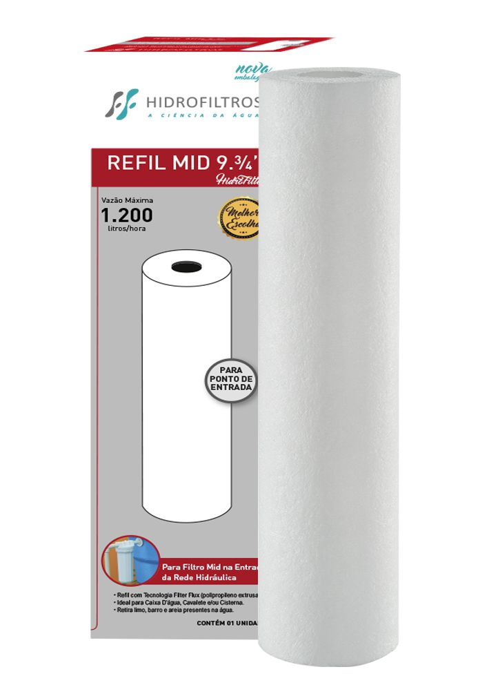 Refil 25 Filter Flux 9.3/4 Liso Polipropileno - 905-0001