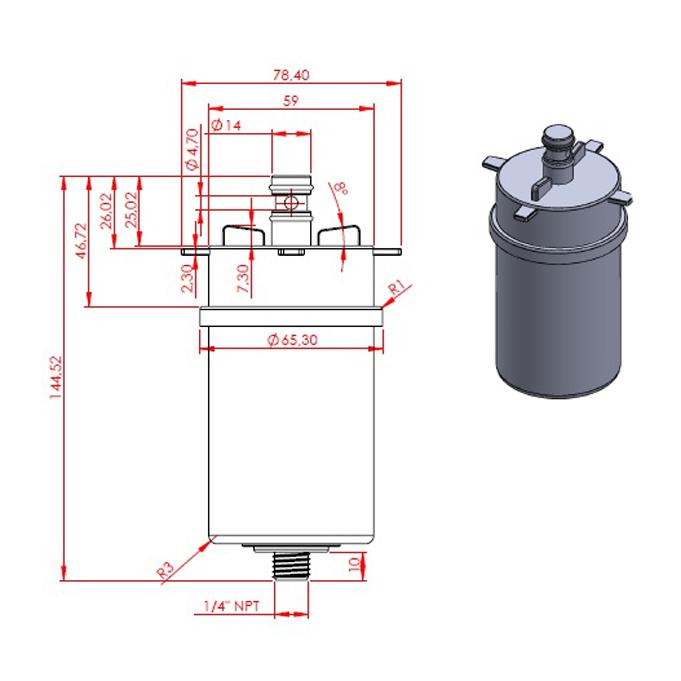 Refil Purificador H2O Compact - 01085