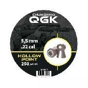 Chumbinho Qgk Hollow Point 5,5mm - 250 Unidades
