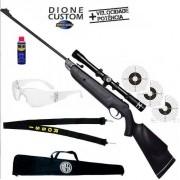 Carabina de Pressão Rossi Dione New Black 5,5 mm + Capa