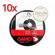 Kit 10 Chumbinho Gamo Match Diabolo 5.5mm 250un