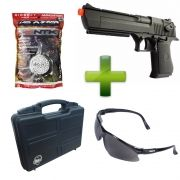 Pistola Airsoft CM 121 Desert Eagle + Case Tsunami + óculos + 5000 BB's NTK 0.20g