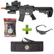 Rifle AEG Airsoft M805A + 5000 BB's NTK 0.20gr + Case Rossi + Óculos