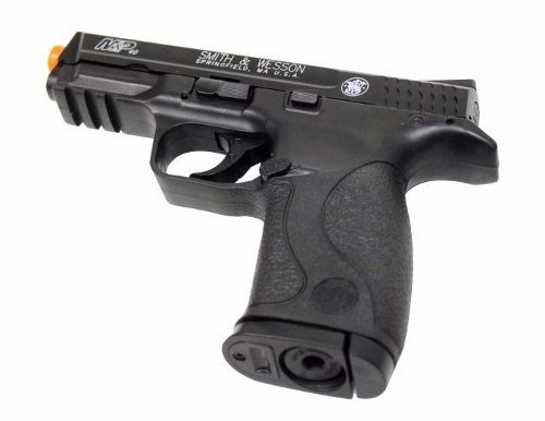 Pistola Airsoft Co2 Smith&wesson M&p40 Slide Metal Fixo 6mm