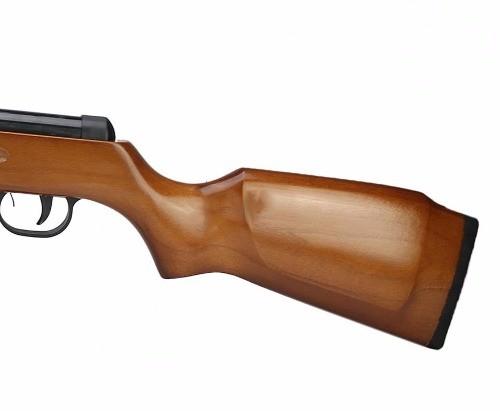 Carabina de Pressão Spring Chumbinho 5.5mm Fixxar Mod Laz 102 Madeira 600 fps