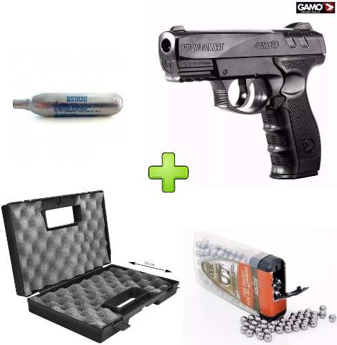 Kit Pistola De Pressao Co2 Gamo Gp-20 4.5mm