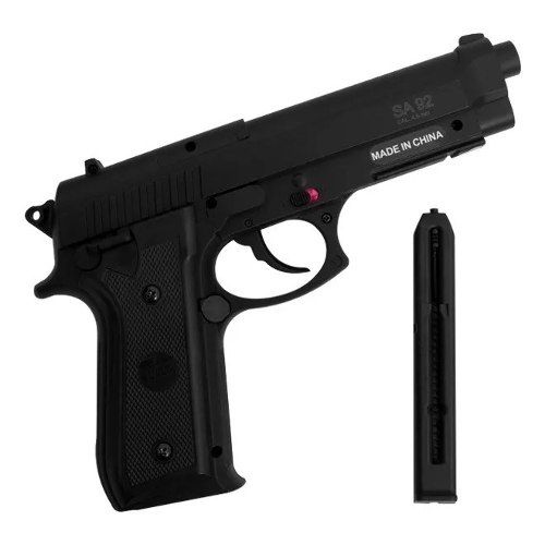 Pistola De Pressão A Gás Co2 Sa P92 4.5mm Swiss Arms