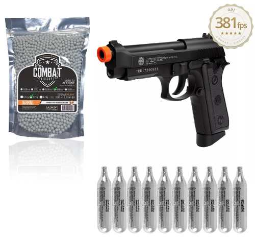 Kit Pistola Airsoft Taurus Pt99 Full Metal Auto Co2 Gbb Full