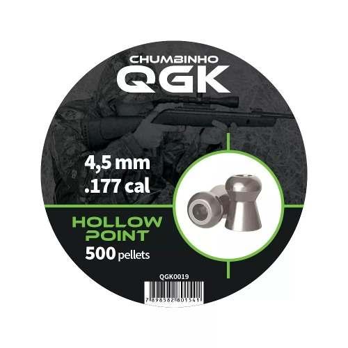 Chumbinho Qgk 4,5 Mm Hollow Point 500 Unidades