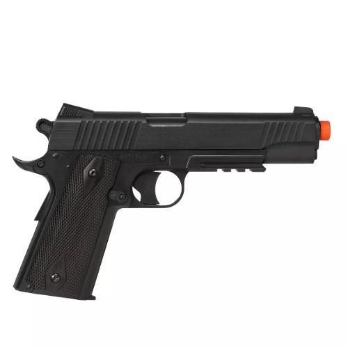 Pistola Airsoft Co2 Cybergun Colt 1911 Rail Nbb Blackened