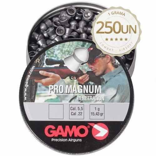 Chumbinho Gamo Pro Magnum 5.5mm - Latinha C/ 250 Unidades