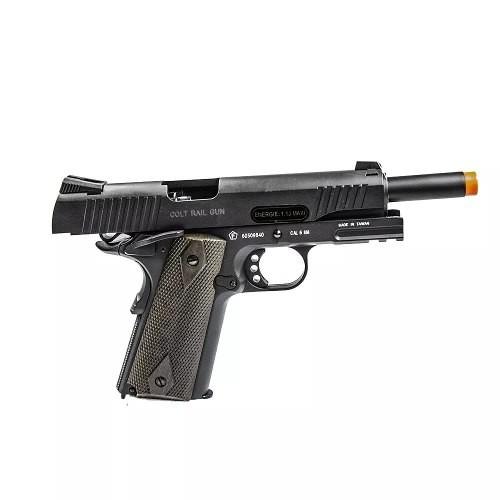 Pistola Pressao Co2 Colt 1911 Rail Gun Blowback