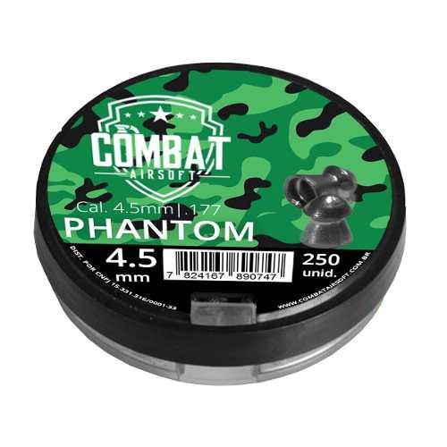 Chumbinho Combat Phantom 4.5mm 250 Unidades