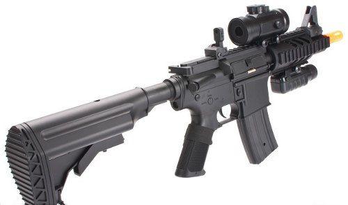 Rifle De Airsoft Aeg M4 M805 A2 + Lanterna + Red Dot Fake