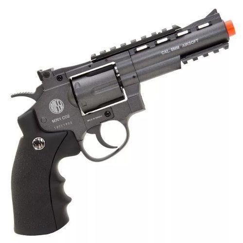 Revolver Airsoft Rossi Co2 Wg 701 4 Full Metal Preto