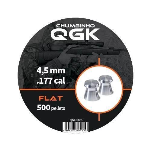 Chumbinho Flat 500 Pellets/pote 4,5mm - Qgk