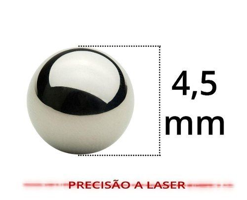 Esfera De Aço Combat Airsoft Chromium 4,5mm 250 Unidades