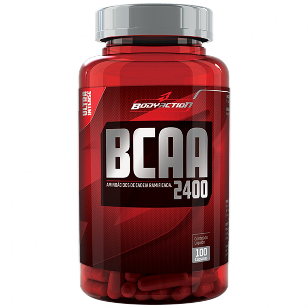 BCAA 2400 Ultra Intense - 100 cápsulas - BodyAction