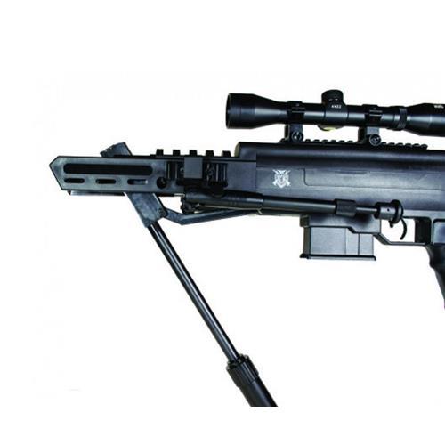 Carabina De Pressão Black Ops Sniper 5.5mm Gás Ram + Luneta