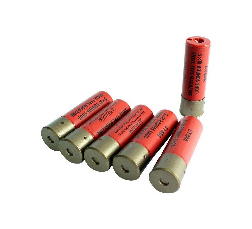 Cartuchos Para Airsoft Shotgun Capacidade 30bb's 6 Und Cyma