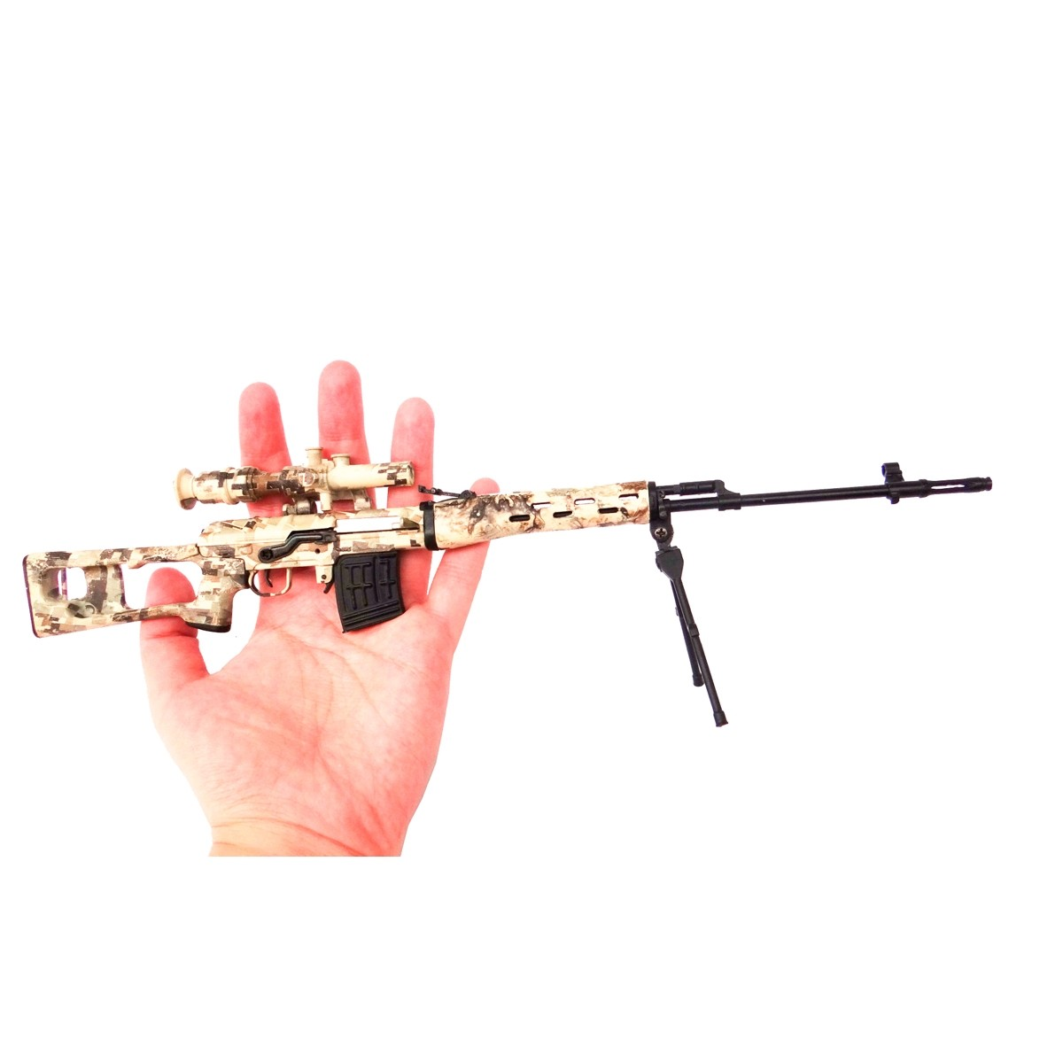 Miniatura Decorativa em Metal modelo L96-CAMO- Arsenal Guns