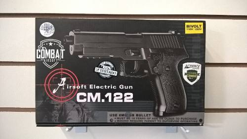 Pistola Airsoft CM 122 + Máscara telada