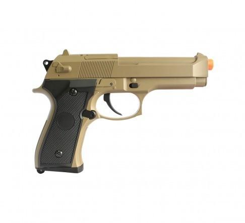Pistola De Airsoft Bereta M92f Tan Elet. Cm126 Cal 6 Mm Bivo