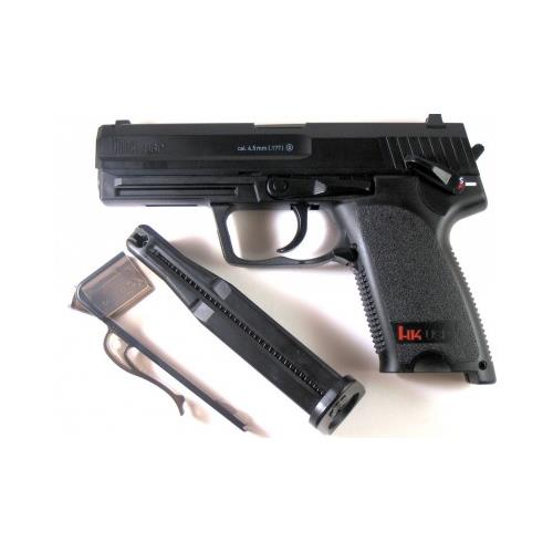 Pistola de Pressão HK USP Co2 FullMetal 4.5mm + Cilindro