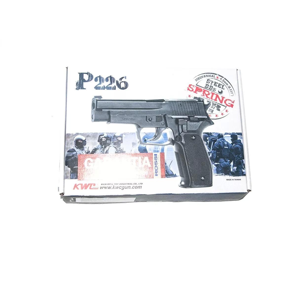 Pistola De Pressão Sig Sauer P226 4,5mm Metal + 300 Esferas