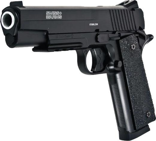 Pistola de Pressão SWISS ARMS CO2 SA 1911 4,5MM + cilindro