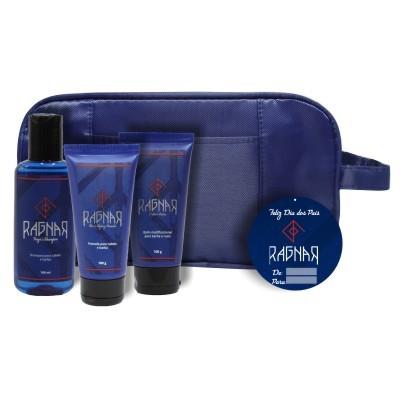Combo 1 - Dia dos Pais - Shampoo para Cabelo e Barba 140 ml + Pomada para Cabelo e Barba 100 g + Balm Multifuncional para Barba e Rosto 100 g + Necessaire Grátis