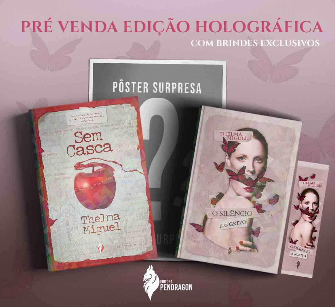 **PRÉ-VENDA** Kit Poético Thelma Miguel EDIÇÃO HOLOGRÁFICA