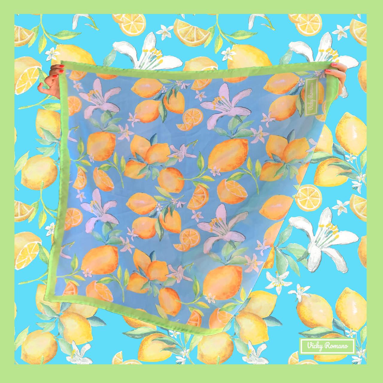 Lenço Limão Turquesa