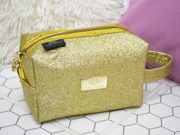 Necessaire  Glitter Dourada