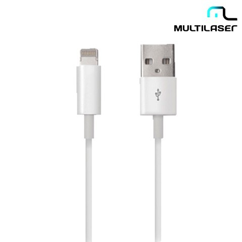 Cabo Multilaser Dados Lighting 8pin para Iphone 5, Ipod, Ipad Wi256