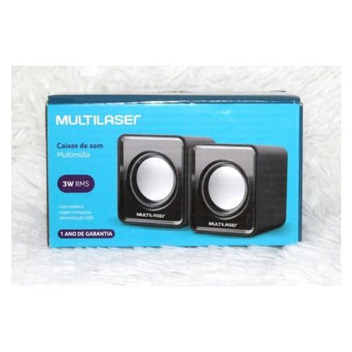 Caixa De Som 3W RMS  Para Pc Multilaser SP144
