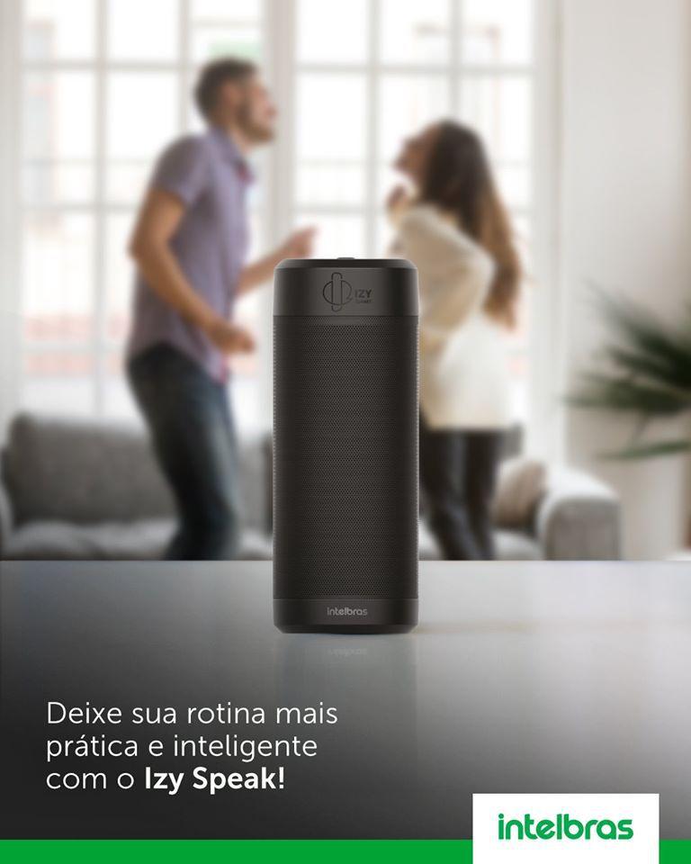 Caixa de Som Inteligente Intelbras Izy Speak com Entrada USB e Bluetooth