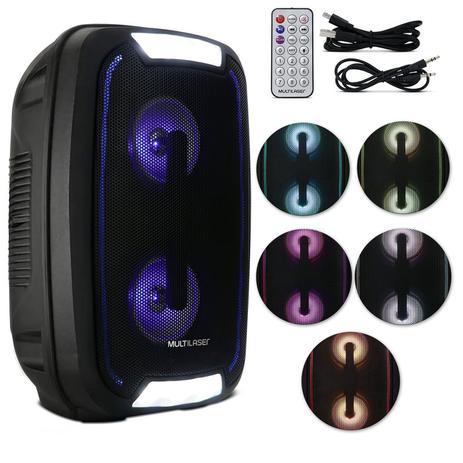 Caixa de Som Multilaser Mini Torre Party tws Bluetooth 200W rms Preto  SP336