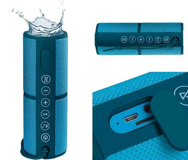 Caixa de Som SP253 com Bluetooth Azul Pulse - Resistente a água