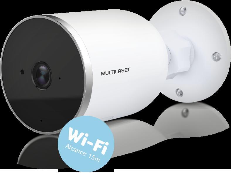 Câmera Externa Inteligente IP66 Full HD Wi-Fi - Multilaser Liv - SE222
