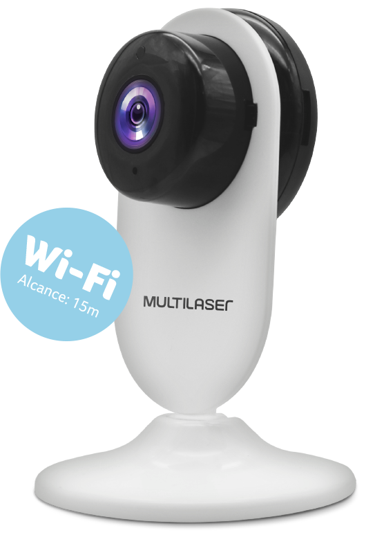 Câmera Interna Inteligente HD Wi-Fi - Multilaser Liv - SE223