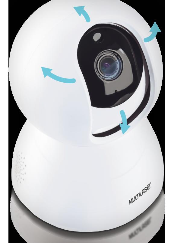 Câmera Robô Inteligente Full HD Wi-Fi - Multilaser Liv - SE221