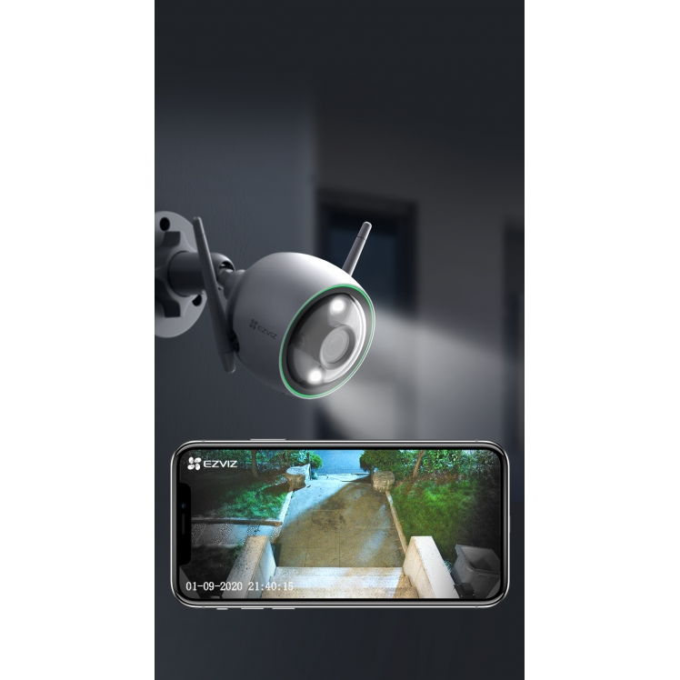 Câmera wifi inteligente C3N colorida a noite fullhd microsd  Hikvision