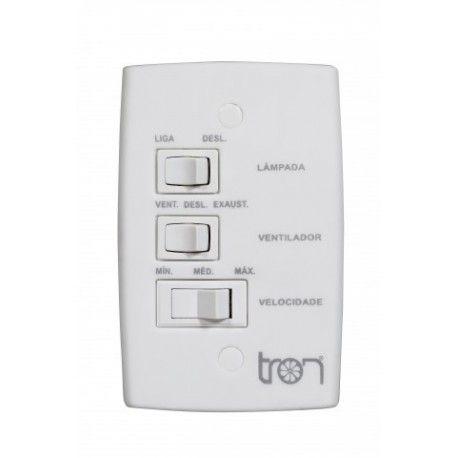 Controle  ventiladores de teto 127v Tron