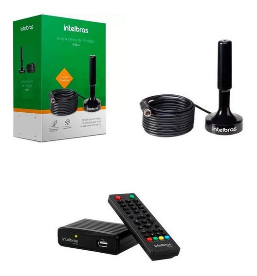 Conversor Digital Intelbras CD700 e Antena AI2031