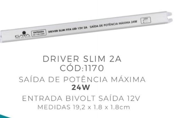 Driver Slim Fita Led 2A 12V Gaya