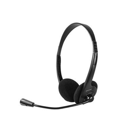 Fone De Ouvido Multilaser Headset Stereo Com Fio 32 Ohms Preto P2  PH002